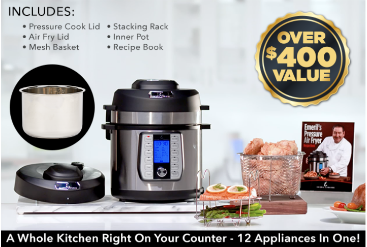 Emeril Lagasse's Pressure Air Fryer Offer