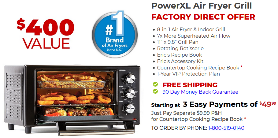 PowerXL Air Fryer GRILL REVIEW