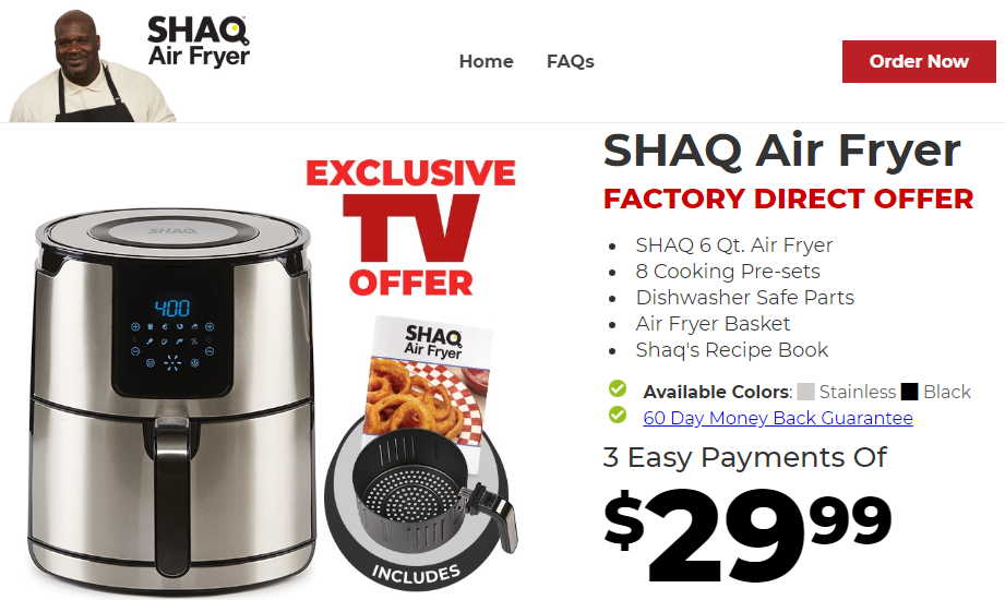 SHAQ Air Fryer REVIEW | ShaqAirFryer.com Exposed
