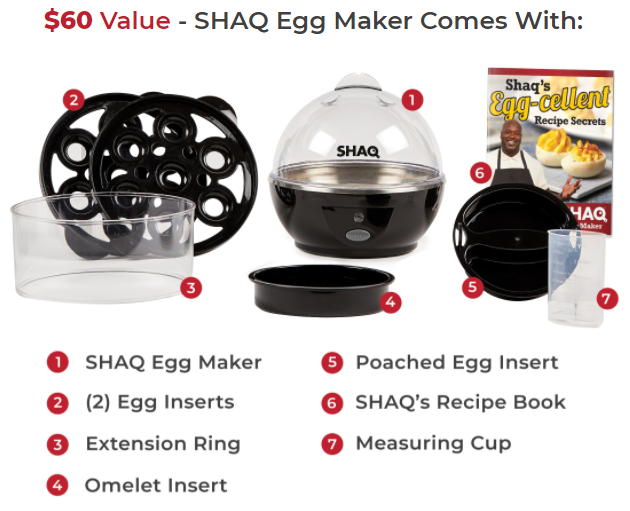 SHAQ Egg Maker What Do I Get?